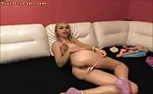Candylisa Sucking Dildo And Fucking Like It Was A Cock Part 1