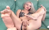 Moonchristine Two Dildos Show