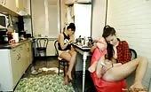 Lulacum69 Lesbians Masturbating In The Kitchen