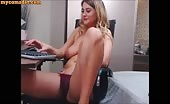 Blonde Milf Has Perfect Body And Tits