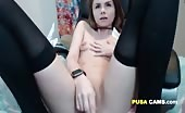 Teen Showing her Small Tight Pussy for Money